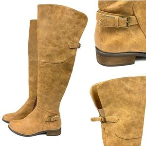 Very Volatile Otto cognac Over Knee Riding Boots 8